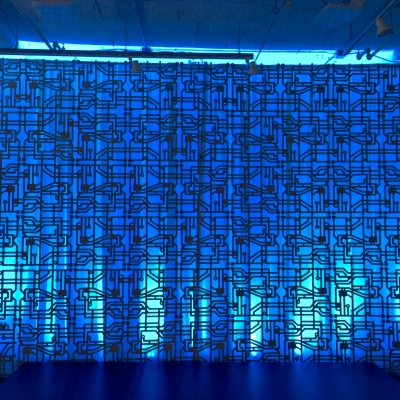 Custom backdrop at the Living Computer Museum by GreenLight Events