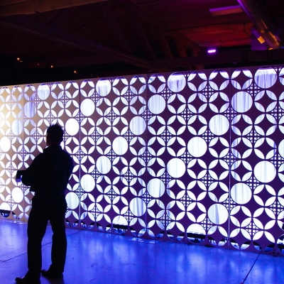 Custom backdrop for Glass Vodka by GreenLight Events