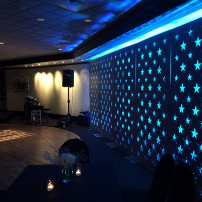 Custom backdrop at the Columbia Tower Club by GreenLight Events