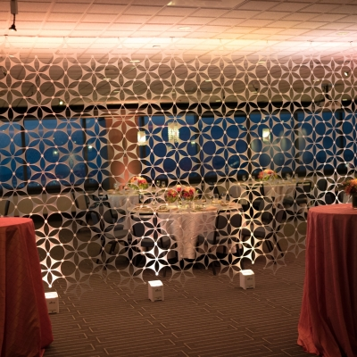 Custom SnapDrop backdrop at the Columbia Tower Club by GreenLight Events