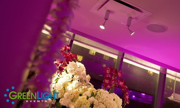 Wireless pin-spot detail lighting by GreenLight Events