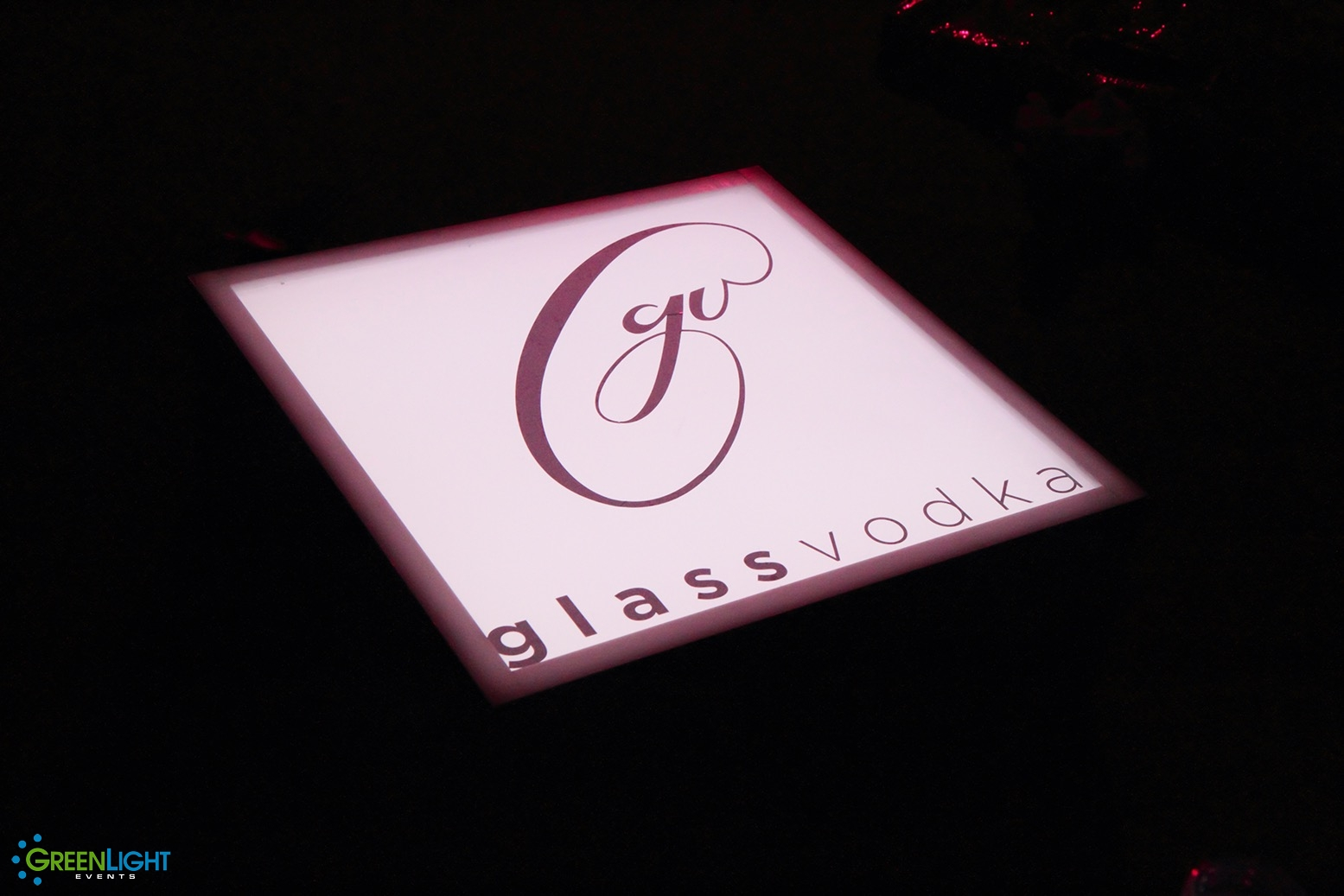 Custom Lightpad for Glass Vodka by GreenLight Events