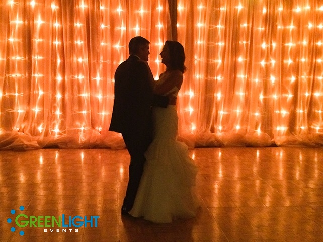 String lighting at Woodmark by GreenLight Events