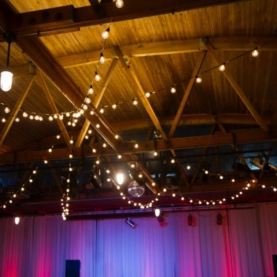 String lighting at 415 Westlake by GreenLight Events