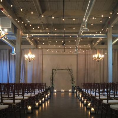 String lighting at Foundry SoDo by GreenLight Events
