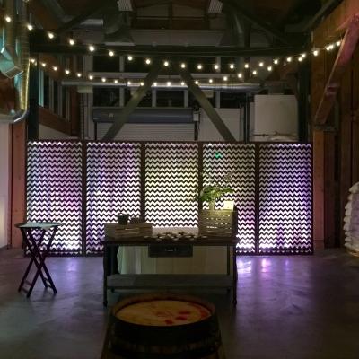Custom backdrop at Westland Distillery by GreenLight Events