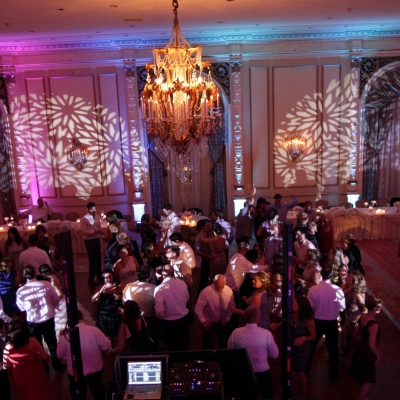Moving head lights at the Fairmont Olympic by GreenLight Events