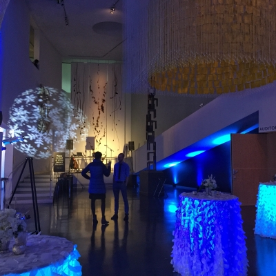Moving head lights at the Bellevue Art Museum by GreenLight Events