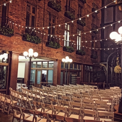 String lighting at Court in the Square by GreenLight Events