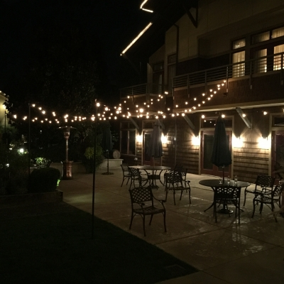 String lighting for Willows Lodge by GreenLight Events
