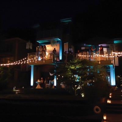 String lighting for a private residence by GreenLight Events
